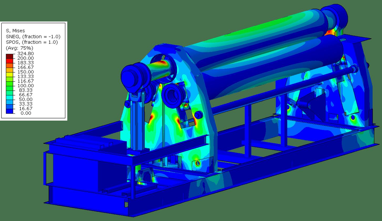 hydraulische 4 walzen rundbiegemaschine