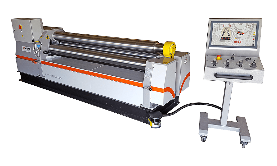 Anatomy of a Picot roll bending machine