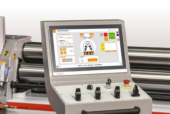 Plate Roll Bending Machine with Automatic Tilting Calculation